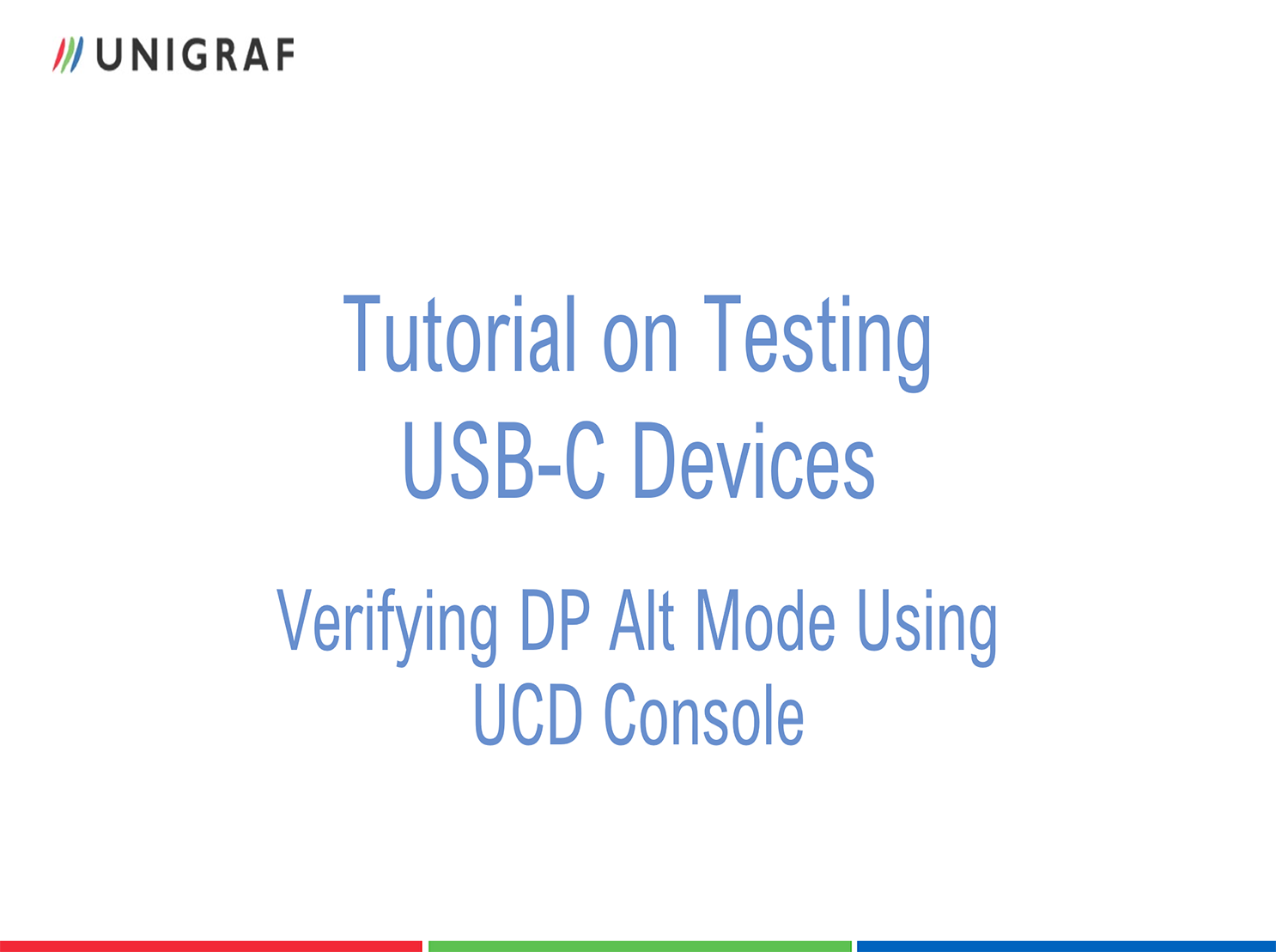 Tutorial on Testing USB-C Devices with UCD-424 - Verifying DP Alt Mode Using UCD Console
