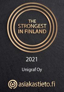 2021 Asiakastieto - The Strongest in Finland